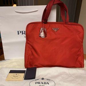 Authentic Prada Handbag Red